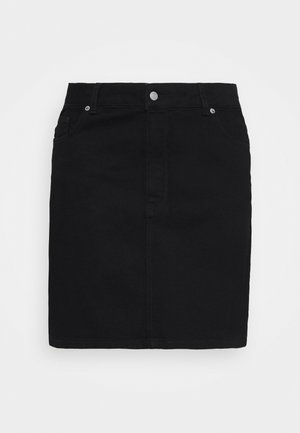 SLFTENNA  - Mini skirt - black denim