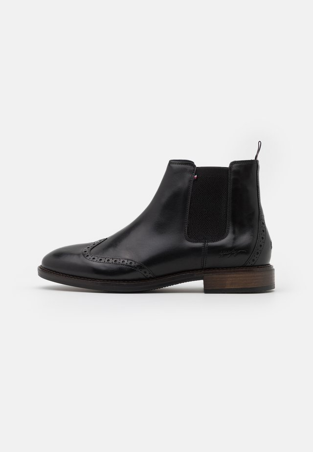 BROGUE CHELSEA - Classic ankle boots - black