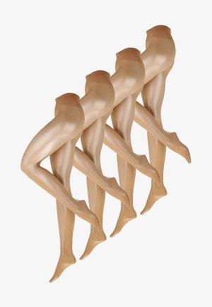 4 PACK - Strumpbyxor - nude