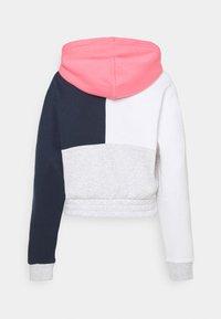 Tommy Jeans - CROP COLORBLOCK LOGO HOODIE - Sweatshirt - silver grey/multi - 6