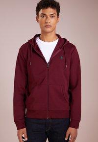 Polo Ralph Lauren - DOUBLE TECH - Zip-up hoodie - classic wine - 0
