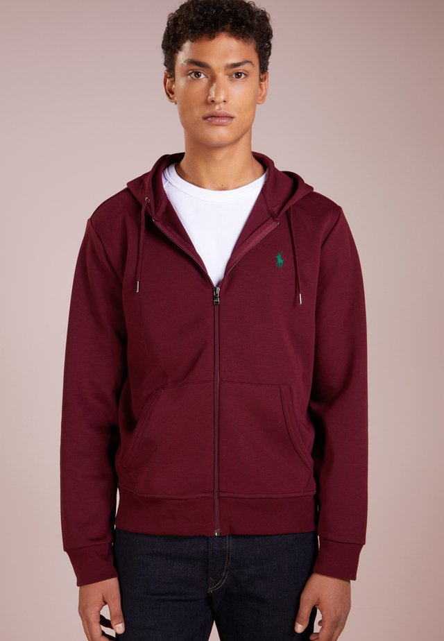 DOUBLE TECH - Zip-up hoodie - classic wine
