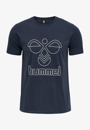 HMLPETER  - Print T-shirt - blue nights