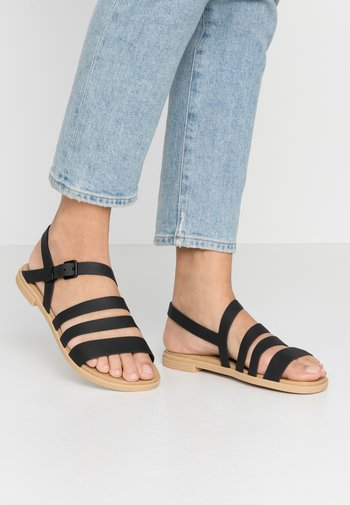 TULUM - Sandals - black/tan