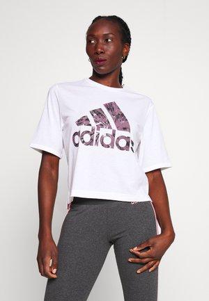 UNIV TEE - T-shirt med print - white
