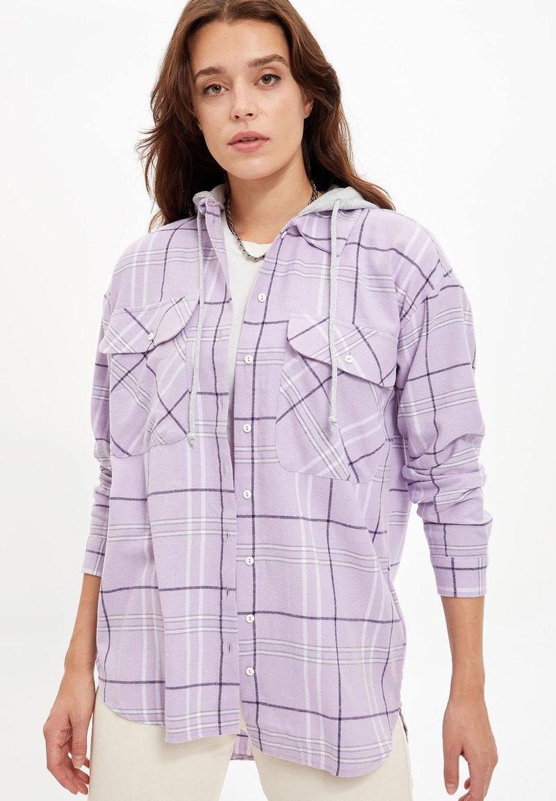 DeFacto - Button-down blouse - purple