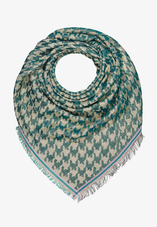 ESTHER HOUNDSTOOTH SCARF - Chusta - darkest green