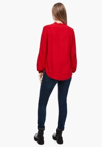 Q/S designed by - Button-down blouse - crimson red - 3