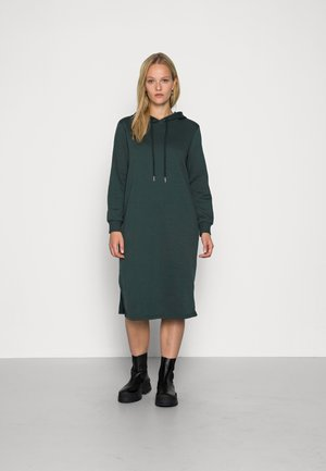 ONLINC JOEY EVERY HOODIE DRESS - Day dress - mallard green