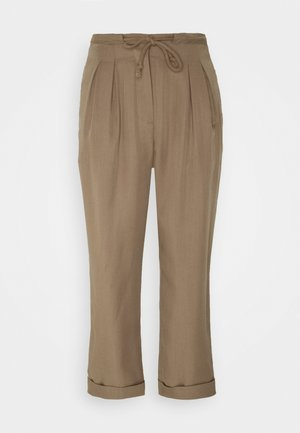 LAUREN RELAXED SUMMER PANTS - Trousers - safari