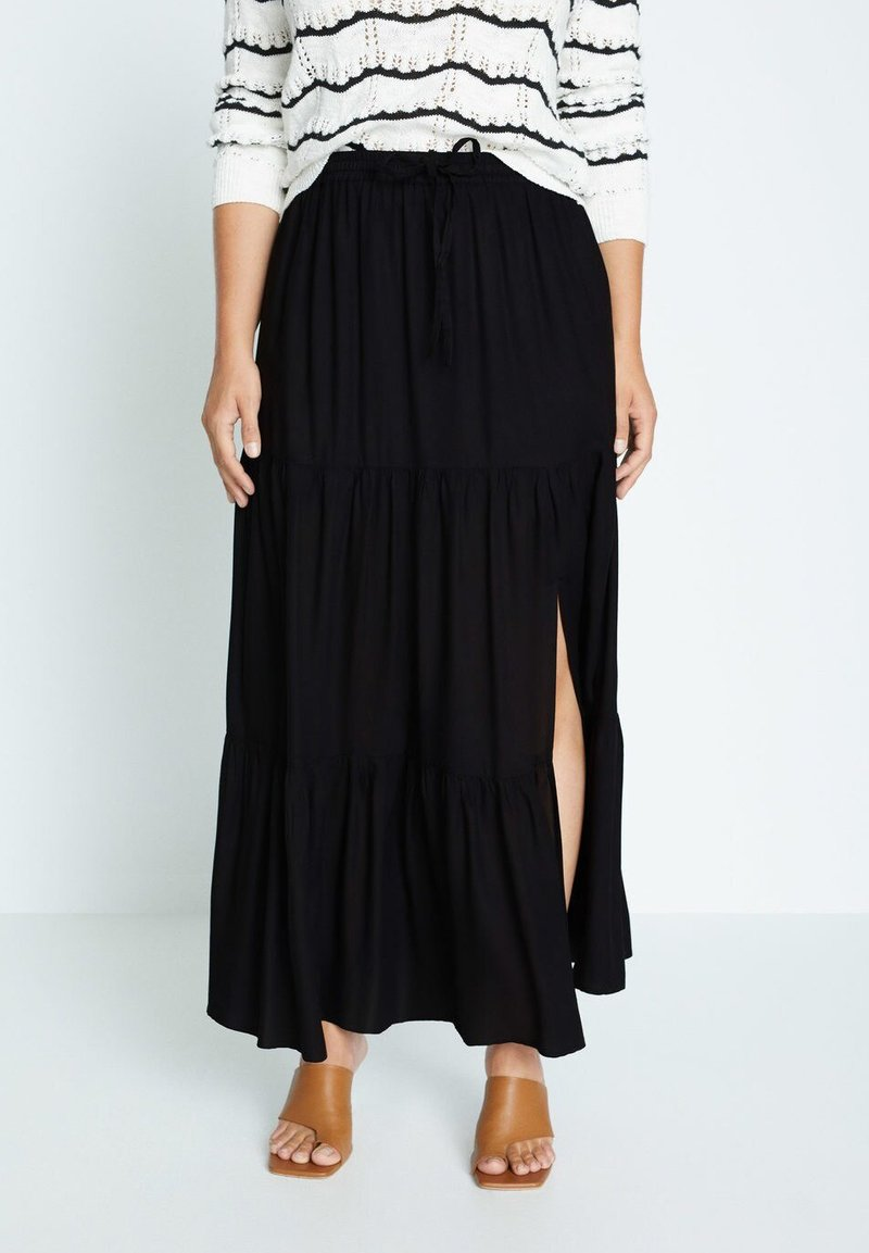 Violeta by Mango - SUMMER - A-line skirt - schwarz