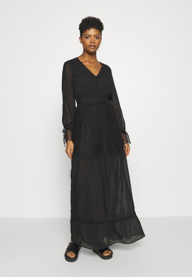 FLORA DRESS - Maxiklänning - black