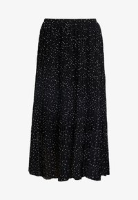 New Look - CANDICE SPOT PLEATED MIDI - A-line skirt - black - 4