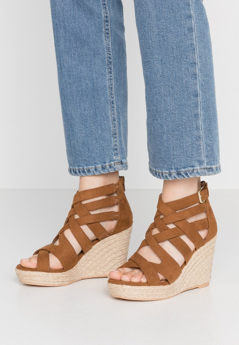 s.Oliver - High heeled sandals - cognac