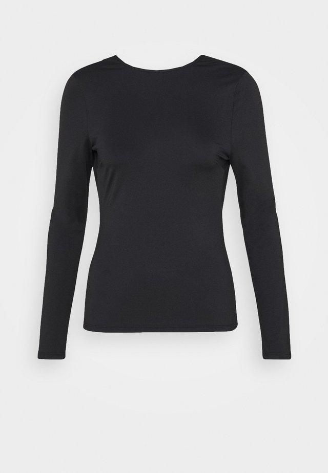 WATERFALL BACK  - T-shirt à manches longues - black