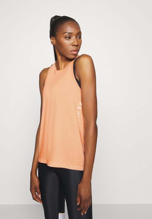 SIDE RUNNER TANK - Top - coral light