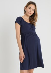 JoJo Maman Bébé - MATERNITY & NURSING WRAP DRESS - Jerseyjurk - midnight blue - 0