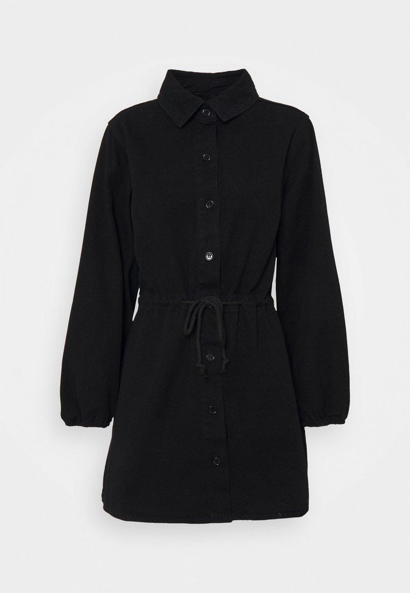 Missguided Petite - DRESS - Denim dress - black