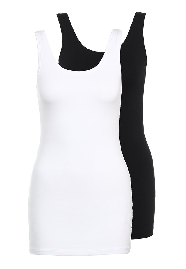 ONLLIVE LOVE NEW 2PACK - Top - black/white