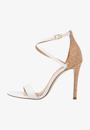 ANTONIA - Sandaler med høye hæler - optic white/multicolor