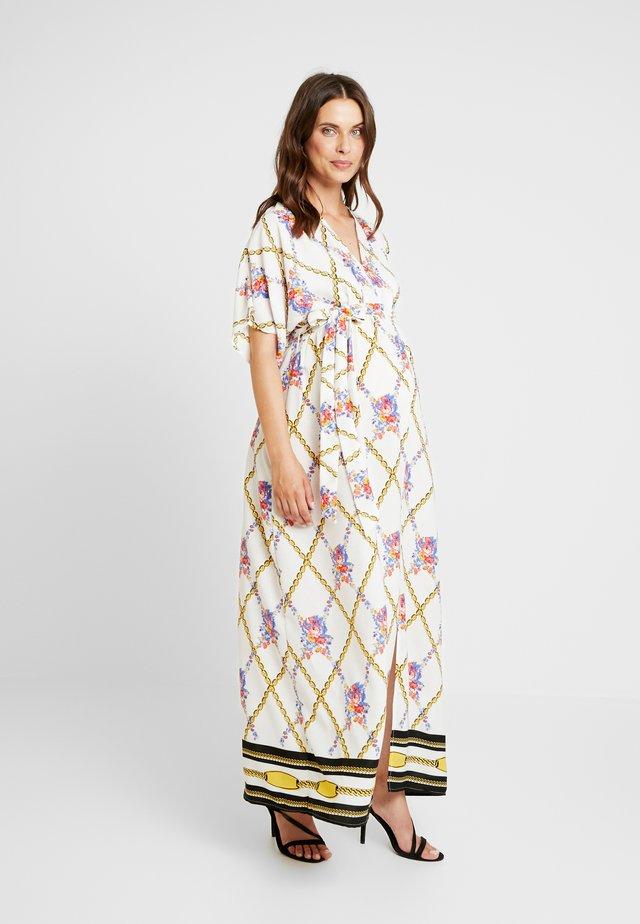 SCARF PRINT DRESS - Maxi dress - white