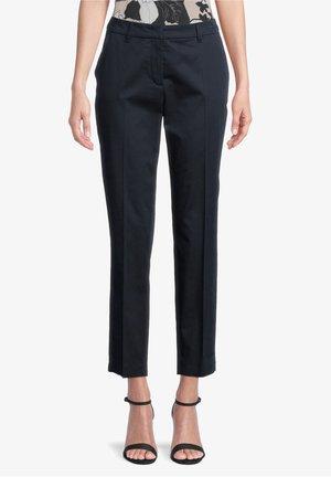 MIT BÜGELFALTE - Trousers - dunkelblau