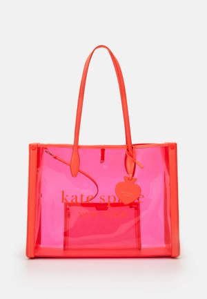 MARKET SEE THROUGH LARGE TOTE - Cabas - pink