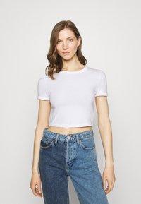 Weekday - GEMINI 2 PACK - Print T-shirt - brown/white - 3