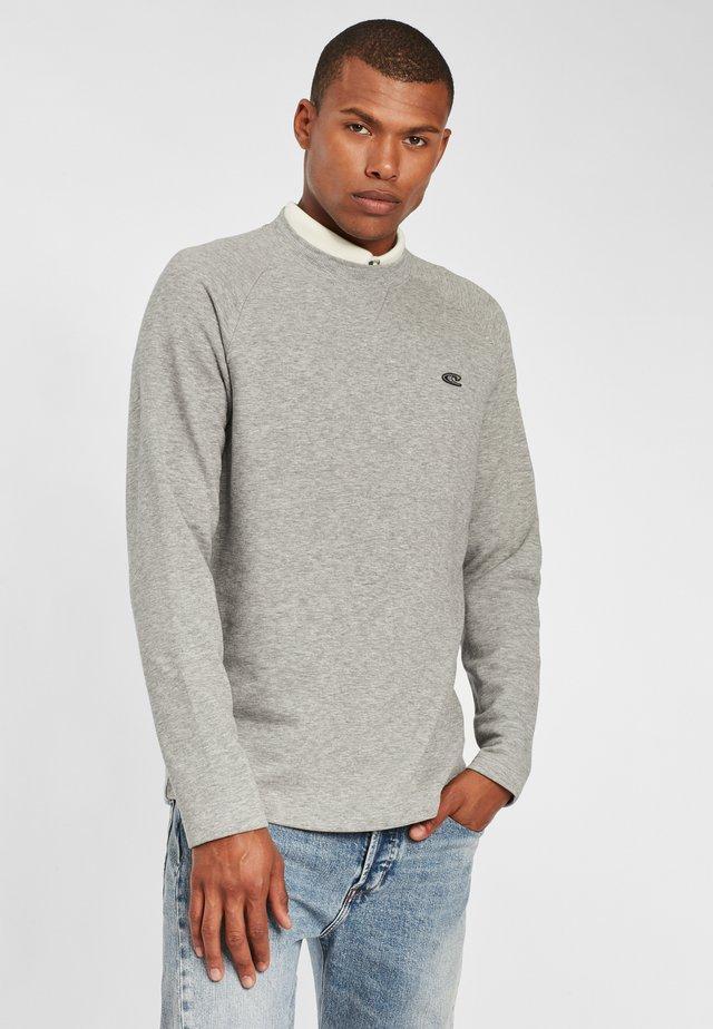 Sweatshirt - silver melee