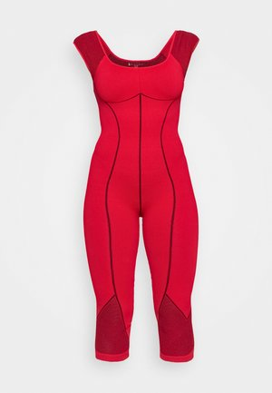 SOLID POINT BREAK ONESIE - cvičební overal - dark red