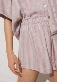 OYSHO - JACQUARD - Pantaloni del pigiama - mauve - 3