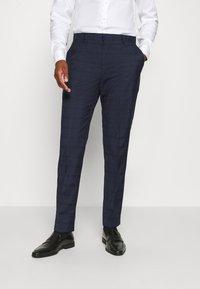 Calvin Klein Tailored - TELA CHECK NATURAL SUIT - Traje - blue - 4