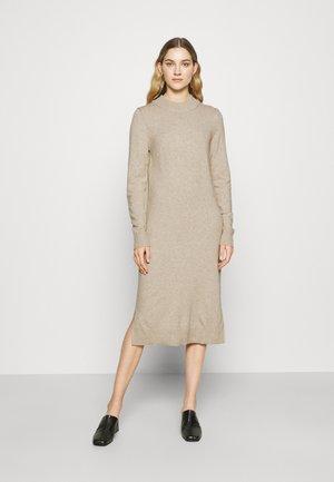 VIRIL MIDI DRESS - Gebreide jurk - natural melange