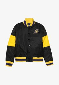 Outerstuff - NBA LOS ANGELES LAKERS THROW BACK VARSITY JACKET - Sportovní bunda - black/yellow - 3