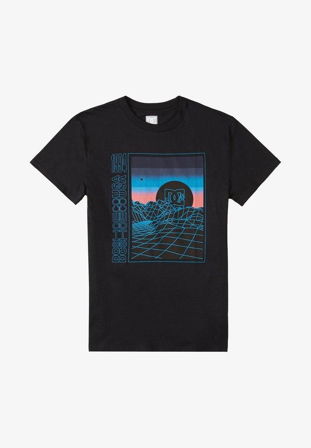 GRIDLOCK - Print T-shirt - black