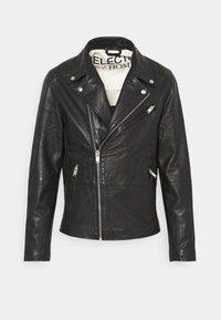 Selected Homme - SLHICONIC BIKER  - Leather jacket - black - 6
