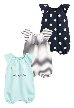 MINT 3 PACK CHARACTER ROMPERS (0MTHS-3YRS) - Mono - blue