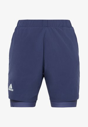 2-IN1- SHORT HEAT.RDY - Sports shorts - tech indigo/dash green