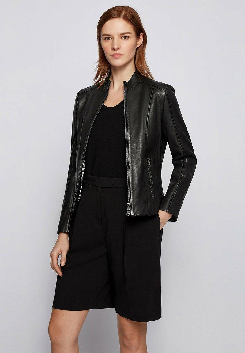 BOSS - C_SABELLA - Leather jacket - black