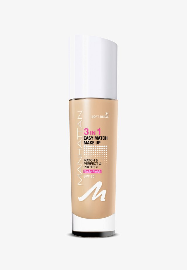3IN1 EASY MATCH MAKE UP - Foundation - 34 soft beige