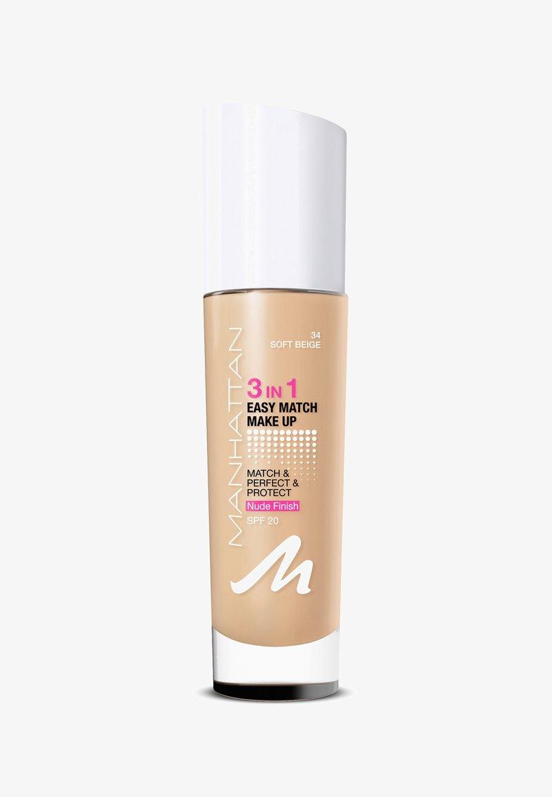 Manhattan Cosmetics - 3IN1 EASY MATCH MAKE UP - Foundation - 34 soft beige