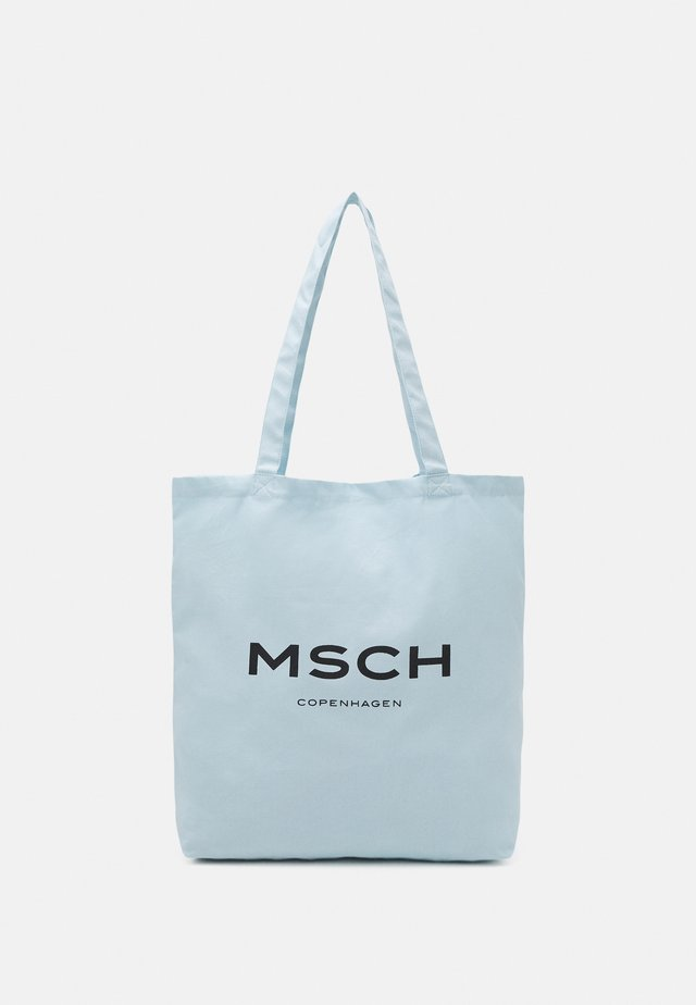 ORGANIC LOGO SHOPPER - Shopping bag - omphalodes/sky