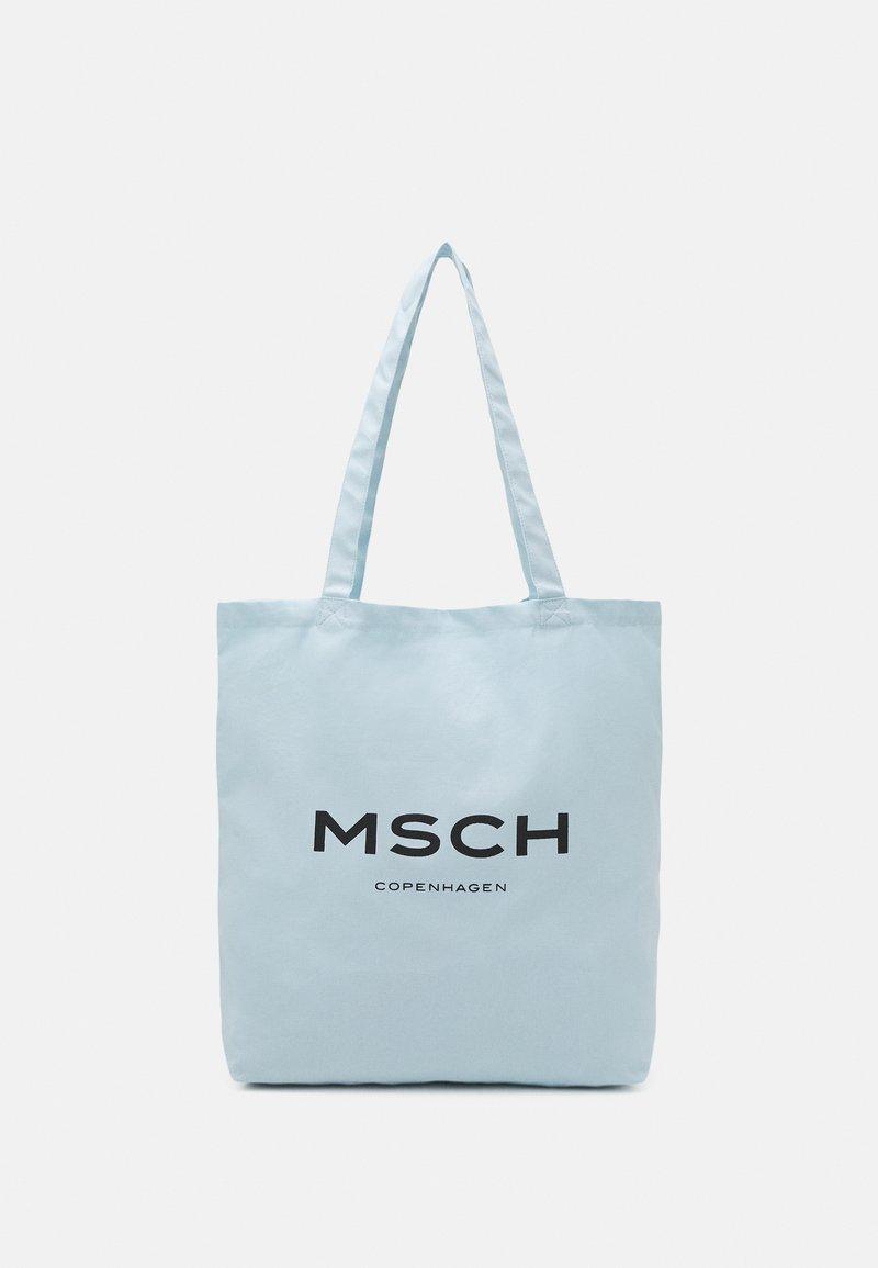 Moss Copenhagen - ORGANIC LOGO SHOPPER - Tote bag - omphalodes/sky