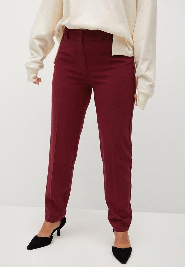 XIPY7 - Pantalon classique - červené víno