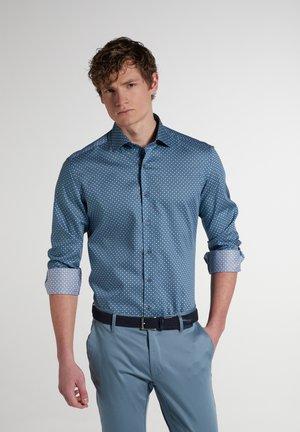 SLIM FIT - Shirt - grün/blau