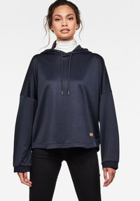 G-Star - VEMERY RELAXED HOODED LONG SLEEVE - Hoodie - sartho blue - 0