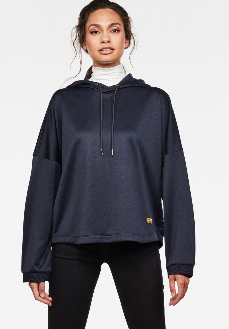 G-Star - VEMERY RELAXED HOODED LONG SLEEVE - Hoodie - sartho blue