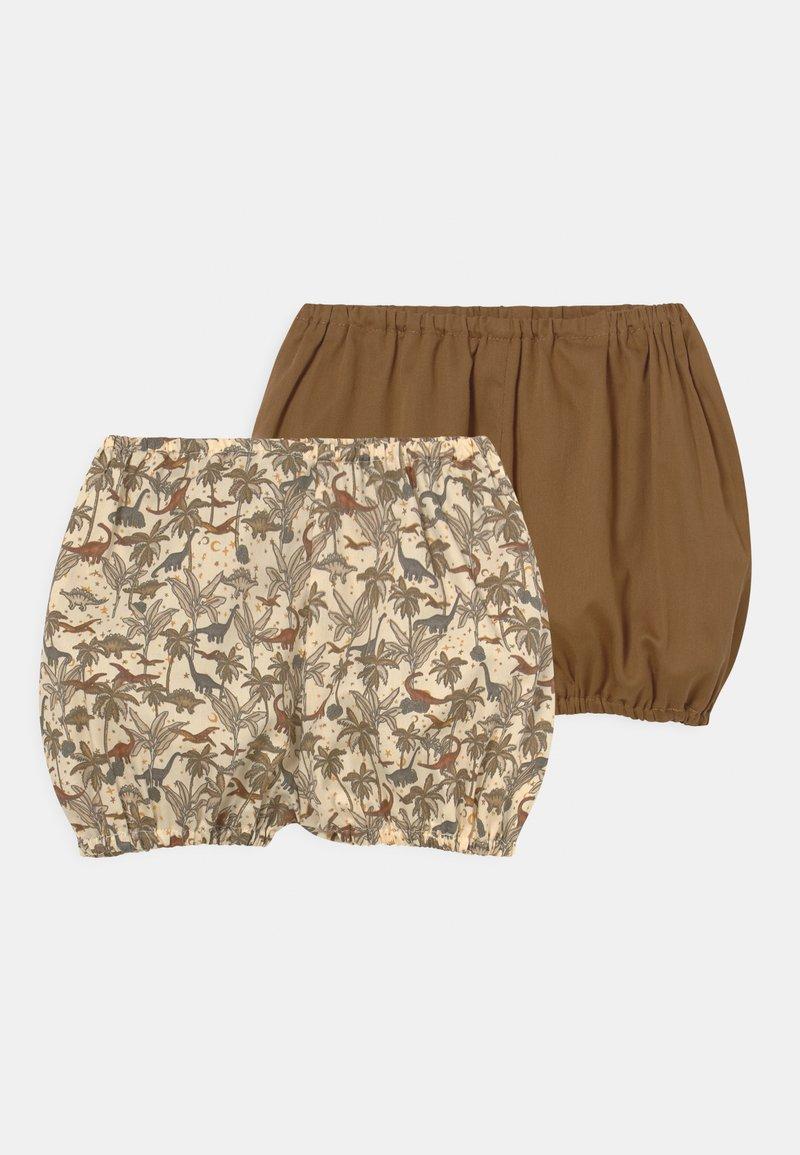 Konges Sløjd - VARDA  BLOOMERS 2 PACK UNISEX - Shorts - breen
