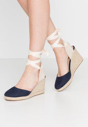 NEW PALMER - Sandály na vysokém podpatku - marino/beige