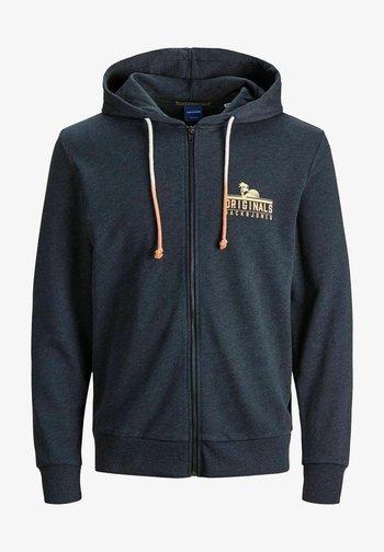 Zip-up sweatshirt - navy blazer